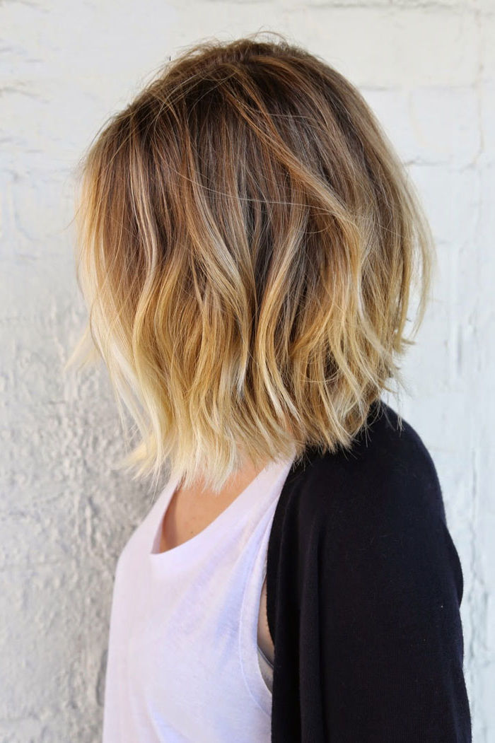 45 Balayage Hairstyles 2018 – Balayage Hair Color Ideas With Blonde Within Choppy Wispy Blonde Balayage Bob Hairstyles (View 11 of 25)