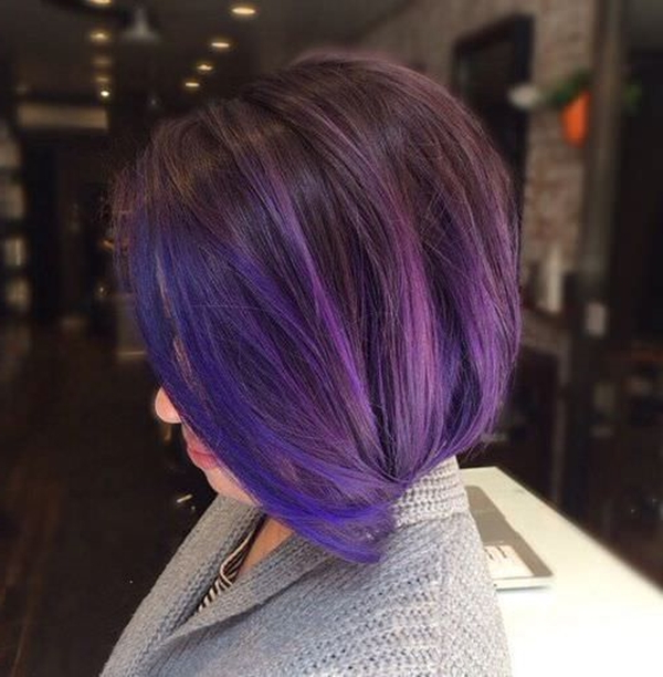 45+ Best Hairstyles Using The Fashionable Shade Of Purple For Choppy Brown And Lavender Bob Hairstyles (View 19 of 25)