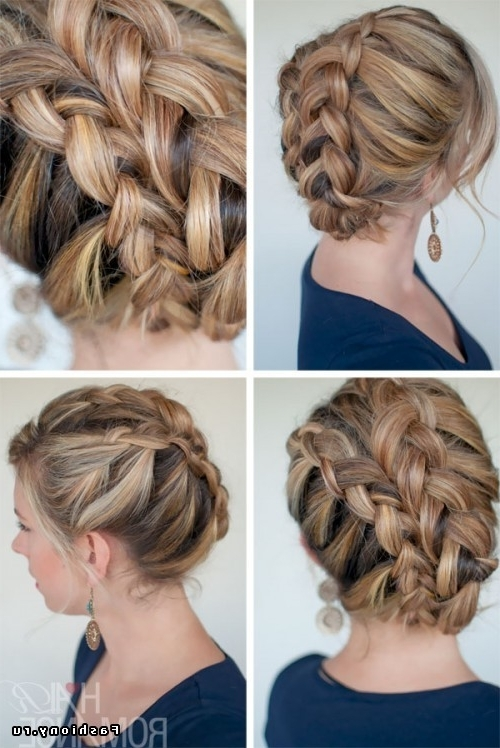 45 Brilliant Braided Updo Styles For Any Hair Type – Hairstylecamp Intended For Regal Braided Up Do Ponytail Hairstyles (View 13 of 25)