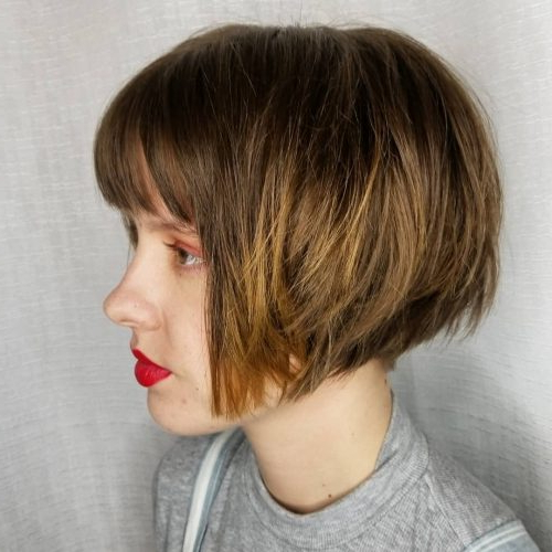 45 Chic Choppy Bob Hairstyles For 2018 For Disheveled Brunette Choppy Bob Hairstyles (View 4 of 25)