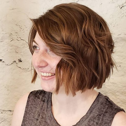 45 Chic Choppy Bob Hairstyles For 2018 Pertaining To Disheveled Brunette Choppy Bob Hairstyles (View 13 of 25)