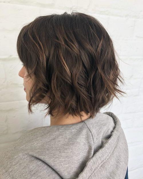 45 Chic Choppy Bob Hairstyles For 2018 Regarding Disheveled Brunette Choppy Bob Hairstyles (View 9 of 25)