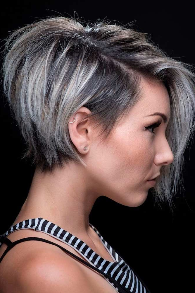 45 Sexy Short Hairstyles To Turn Heads This Summer 2018 | Hair With Regard To Sexy Pastel Pixie Hairstyles (View 2 of 25)