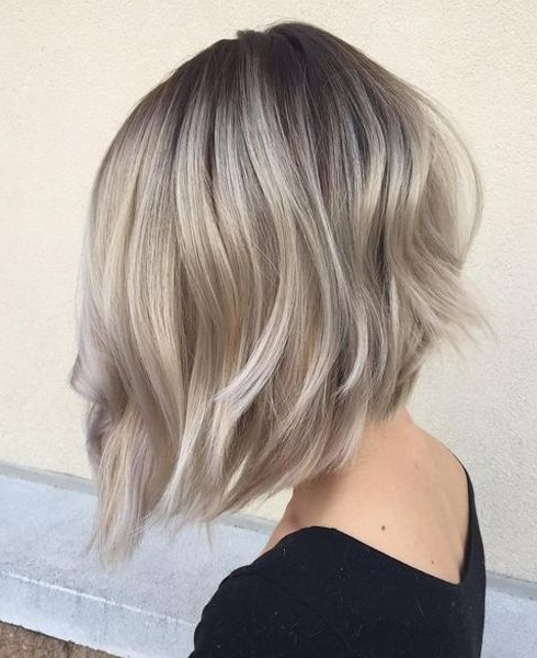 45 Silver Hair Color Ideas For Grey Hairstyles   Hair   Pinterest Pertaining To Silver Balayage Bob Haircuts With Swoopy Layers (View 9 of 25)