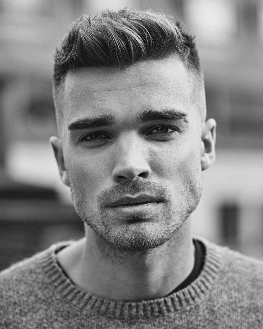 45 Stylish & Simple Short Hairstyles For Men With Regard To Short Straight Hairstyles For Men (View 18 of 25)
