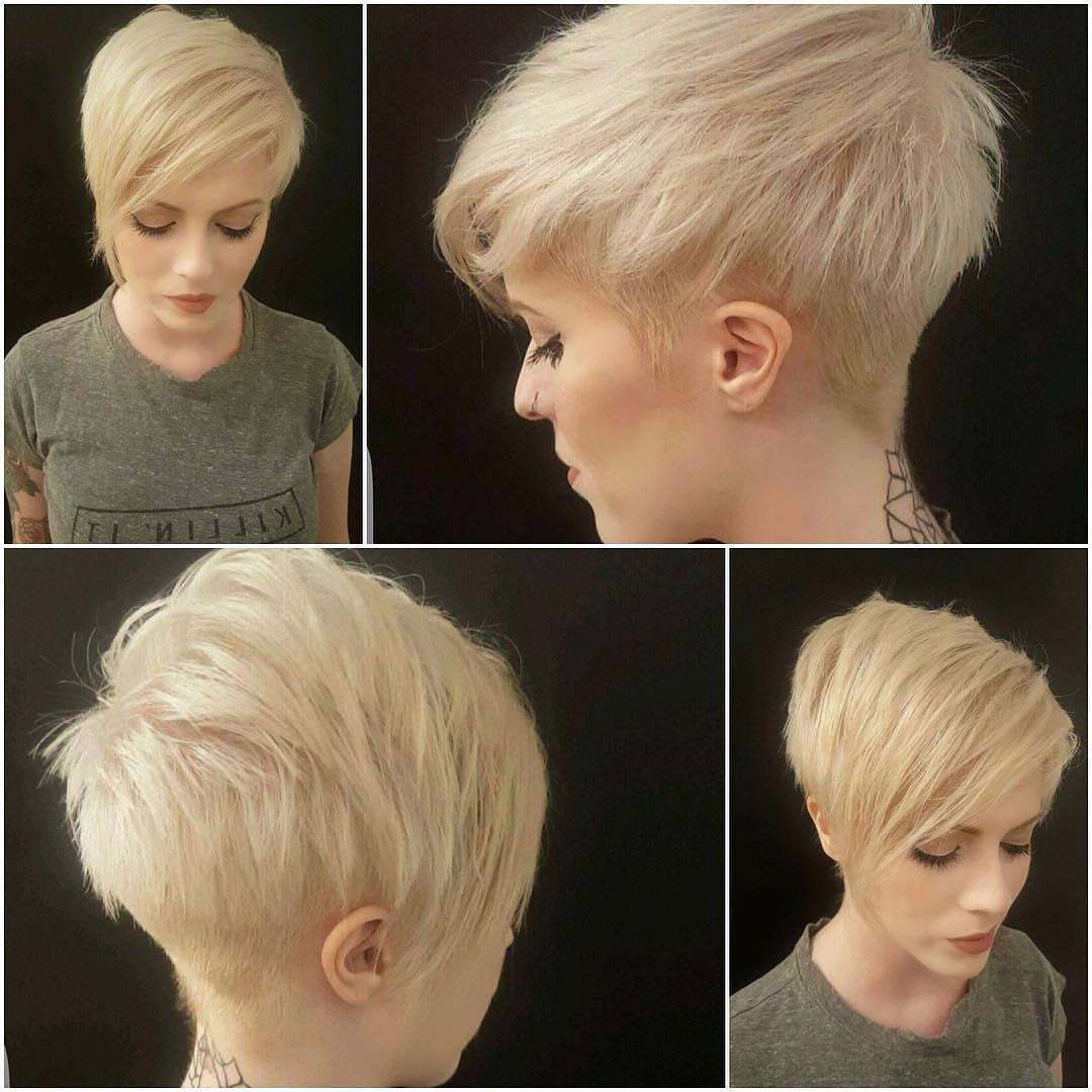 45 Trendy Short Hair Cuts For Women 2018 – Popular Short Hairstyle Ideas Within Trendy Short Hairstyles For Thin Hair (View 13 of 25)