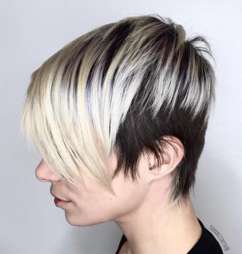 47 Amazing Pixie Bob You Can Try Out This Summer! Pertaining To Black And Ash Blonde Pixie Bob Hairstyles (View 2 of 25)