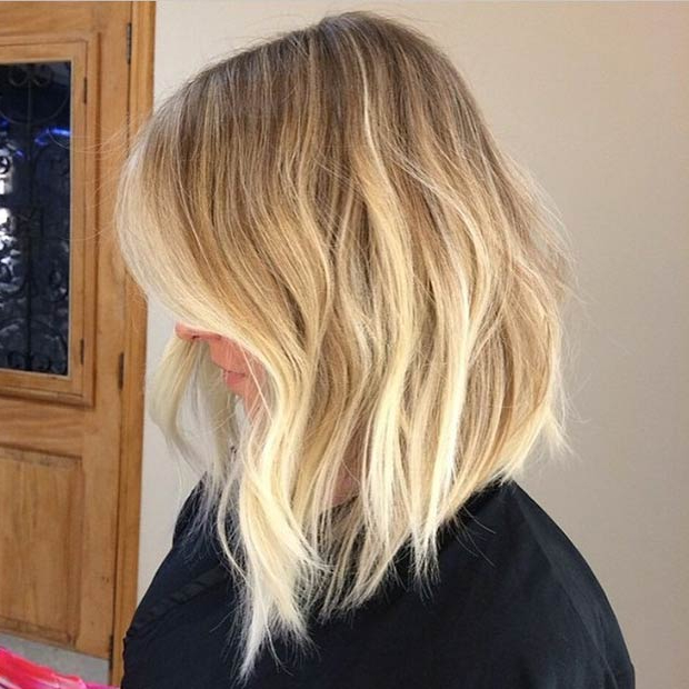 47 Hot Long Bob Haircuts And Hair Color Ideas | Page 2 Of 5 | Stayglam Inside Messy Honey Blonde Bob Haircuts (View 11 of 25)