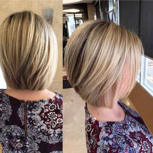 49 Chic Short Bob Hairstyles & Haircuts For Women In 2018 Intended For Short Stacked Bob Blowout Hairstyles (View 5 of 25)
