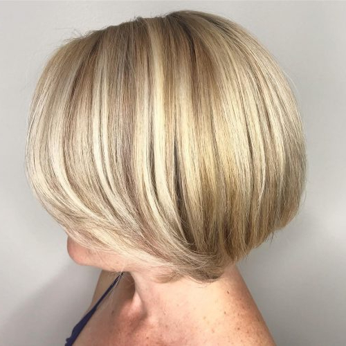 49 Chic Short Bob Hairstyles & Haircuts For Women In 2018 Regarding Rounded Tapered Bob Hairstyles With Shorter Layers (View 7 of 25)