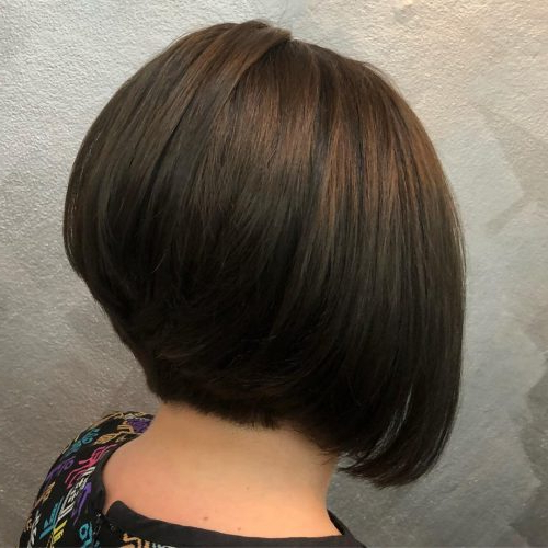 49 Chic Short Bob Hairstyles & Haircuts For Women In 2018 With Regard To Short Stacked Bob Blowout Hairstyles (View 9 of 25)