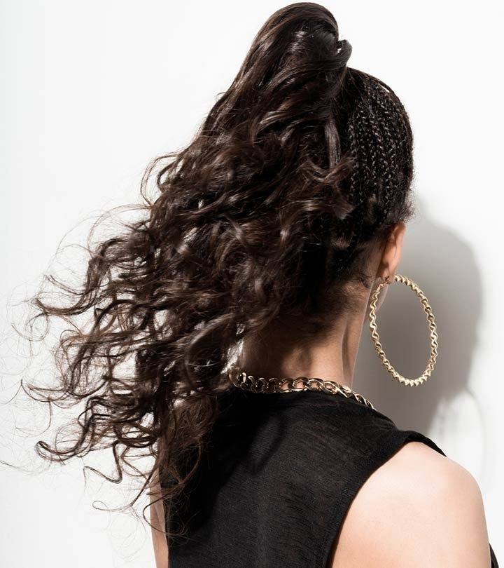 5 Curly Ponytail Ideas That You Should Try Regarding Wavy Ponytails With Flower (View 4 of 25)