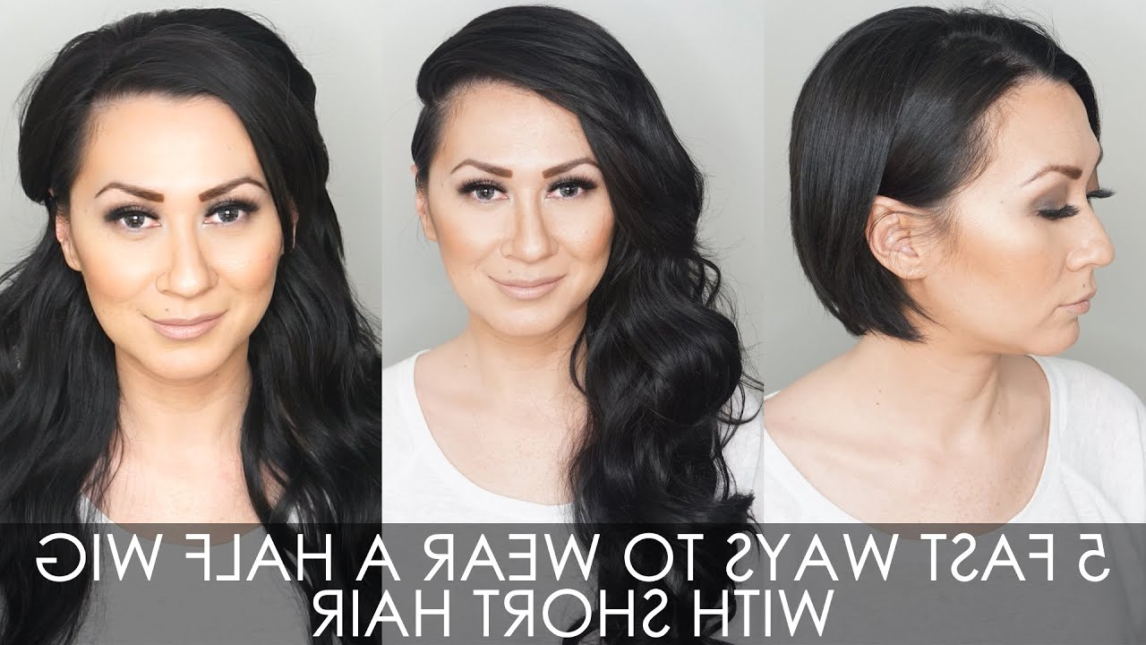 5 Fast Ways To Wear A Half Wig For Short Hair – Youtube Regarding Half Long Half Short Haircuts (View 18 of 25)