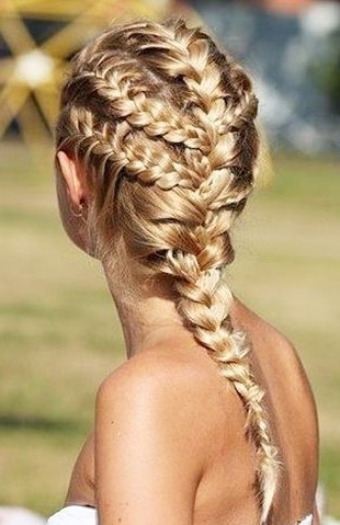 5 Gorgeous Beach Braids | Beauty | Pinterest | Hair Styles, Braids For Beach Friendly Braided Ponytails (View 2 of 25)
