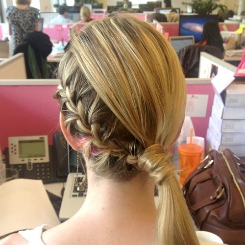 5 Steps To Jessica Alba's Braided Side Ponytail | Birchbox With Diagonally Braided Ponytail Hairstyles (View 9 of 25)
