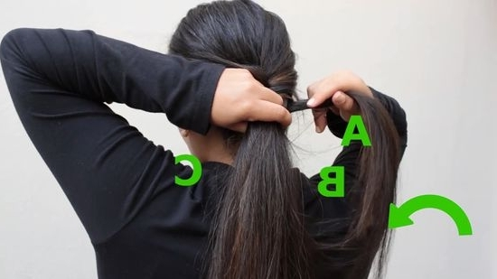5 Ways To Braid Hair – Wikihow Throughout Intricate And Messy Ponytail Hairstyles (View 13 of 25)