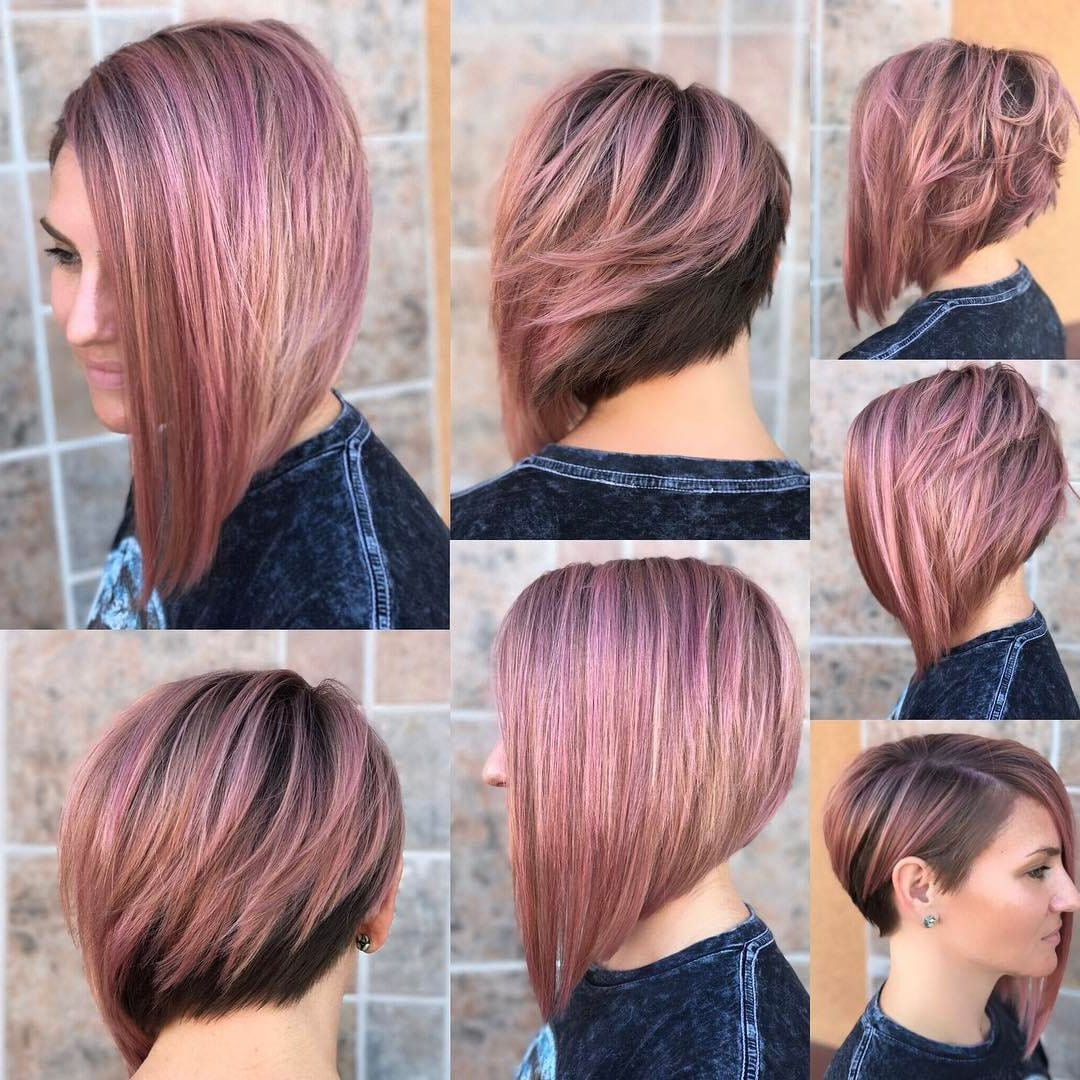 50 Adorable Asymmetrical Bob Hairstyles 2018 – Hottest Bob Haircuts Regarding Symmetrical Short Haircuts (View 13 of 25)