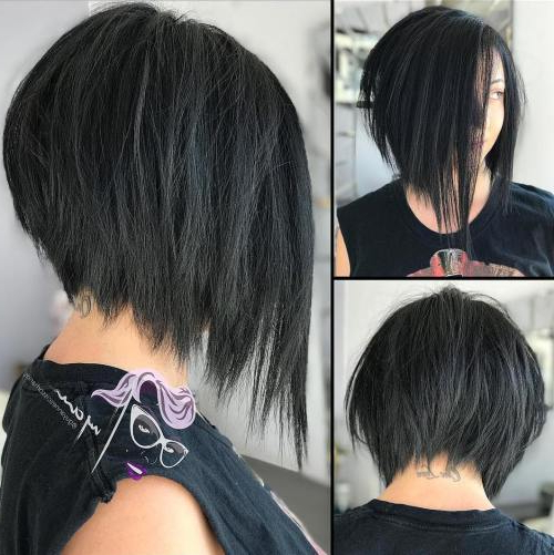 50 Adorable Haircuts Made For Round Faces – Page 9 Of 51 – Fallbrook247 Inside Black Inverted Bob Hairstyles With Choppy Layers (View 8 of 25)