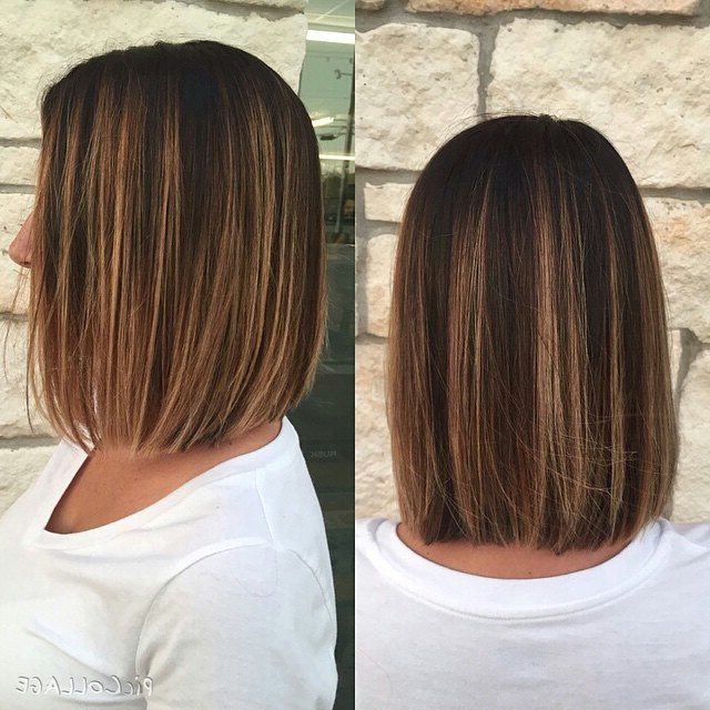50 Amazing Blunt Bob Hairstyles 2018 – Hottest Mob & Lob Hair Ideas In Perfectly Angled Caramel Bob Haircuts (View 23 of 25)