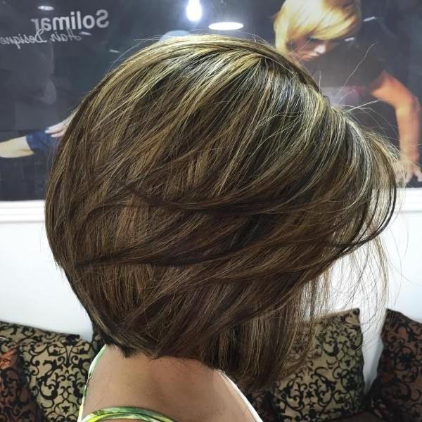 50 Beautiful And Convenient Medium Bob Hairstyles | Brown Balayage With Layered Balayage Bob Hairstyles (View 3 of 25)