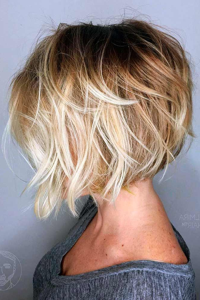 50 Beautiful And Super Stylish Bob Haircuts | Fancy Face | Pinterest With Regard To Messy Shaggy Inverted Bob Hairstyles With Subtle Highlights (View 7 of 25)