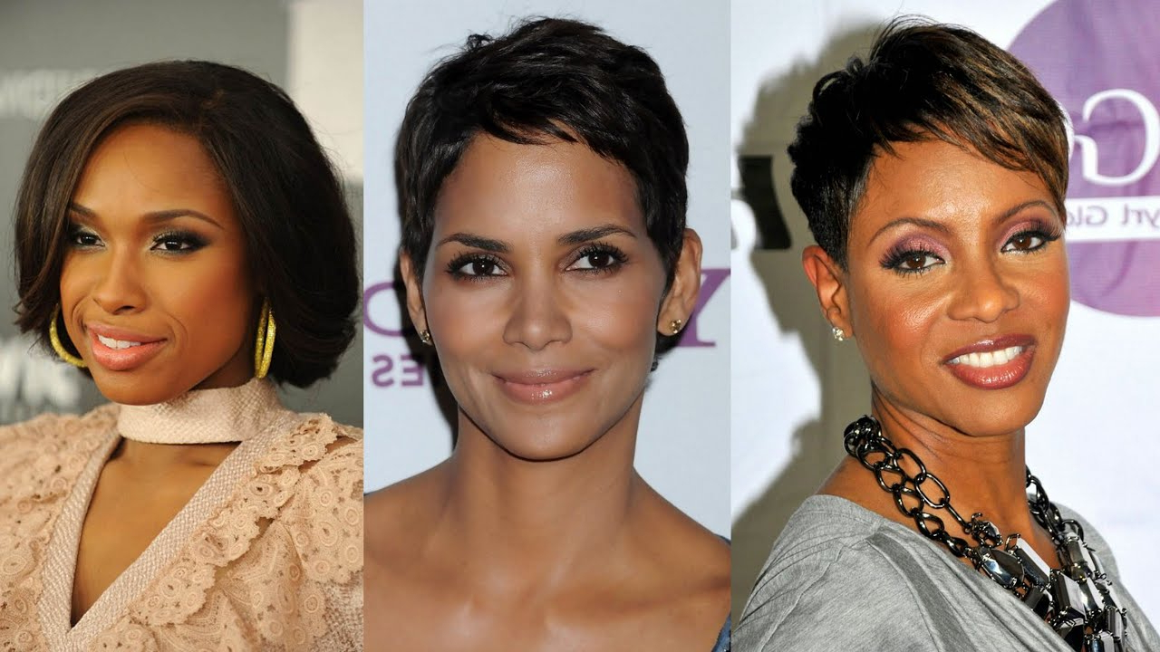 50 Best Short Hairstyles For Black Women Over 40 – Youtube Inside Short Hairstyles For African American Women With Thin Hair (View 10 of 25)