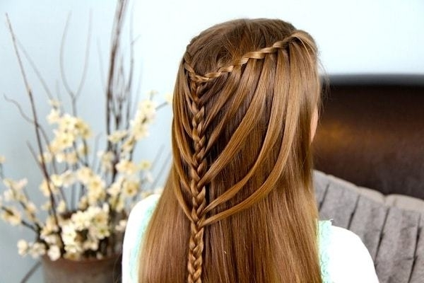 50 Cascading Waterfall Braids For Glamorous Women With Cascading Braided Ponytails (View 8 of 25)