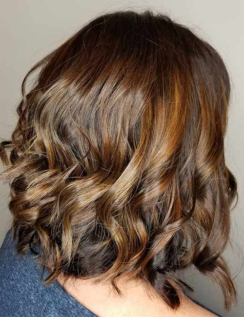 50 Chic Curly Bob Hairstyles Intended For Modern Chocolate Bob Haircuts (View 16 of 25)