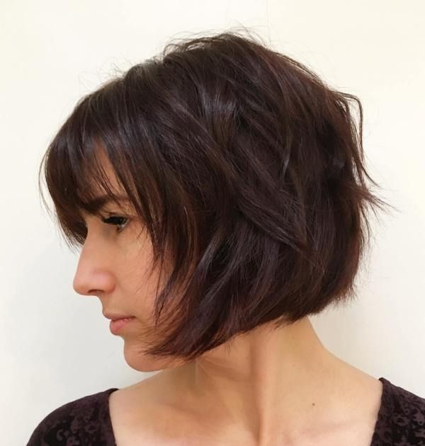 50 Classy Short Bob Haircuts And Hairstyles With Bangs   Short Hair With Razored Brown Bob Hairstyles (View 12 of 25)