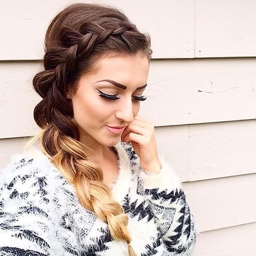 50 French Braid Hairstyles For 2015 | Stayglam With Simple Messy Side Ponytail Hairstyles (View 8 of 25)