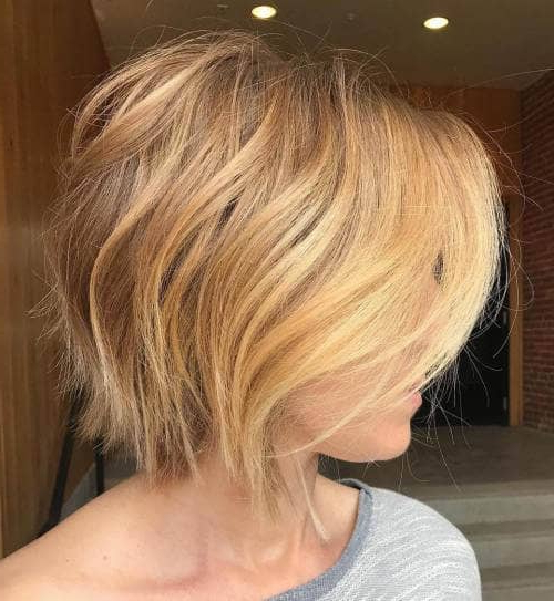 50 Fresh Short Blonde Hair Ideas To Update Your Style In 2018 Pertaining To Messy Honey Blonde Bob Haircuts (View 19 of 25)
