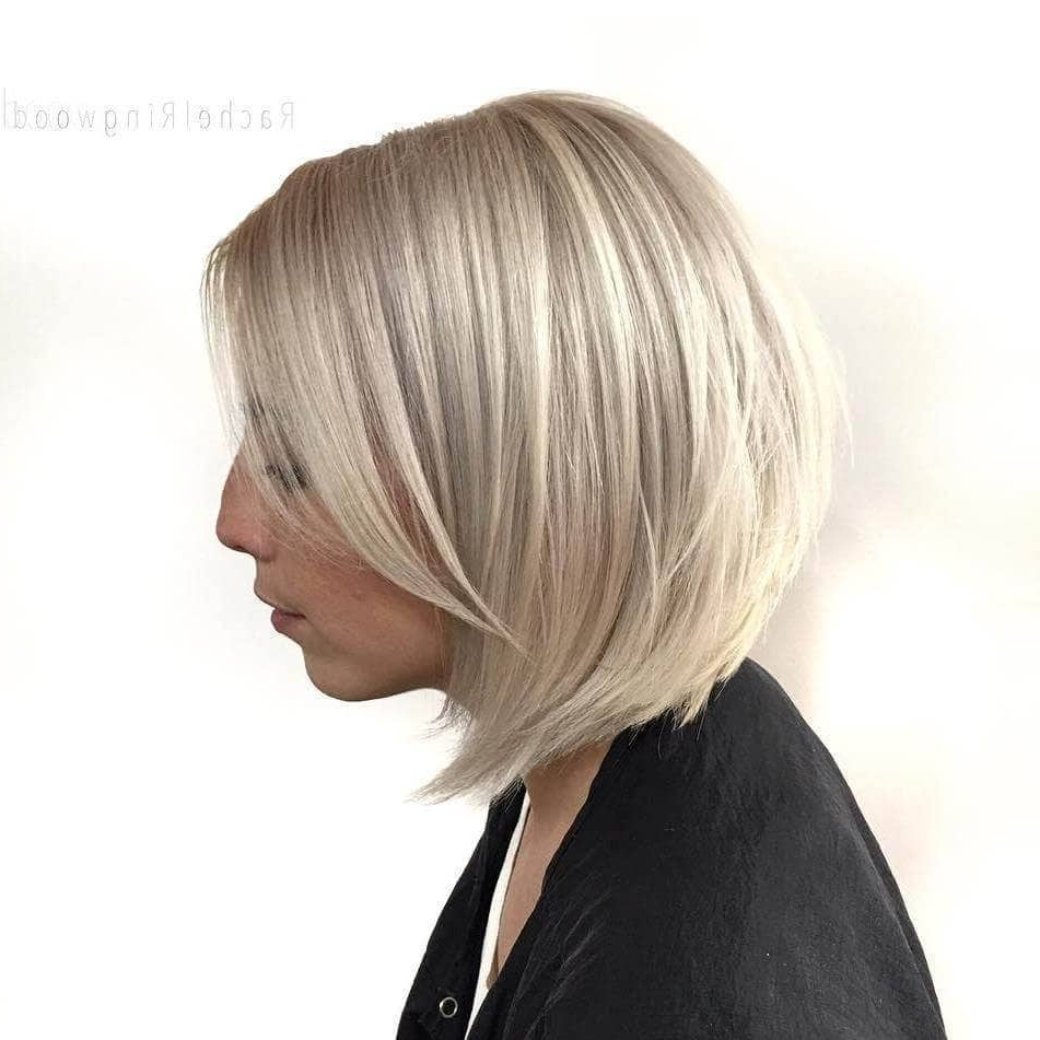 50 Fresh Short Blonde Hair Ideas To Update Your Style In 2018 Within Nape Length Wavy Ash Brown Bob Hairstyles (View 17 of 25)