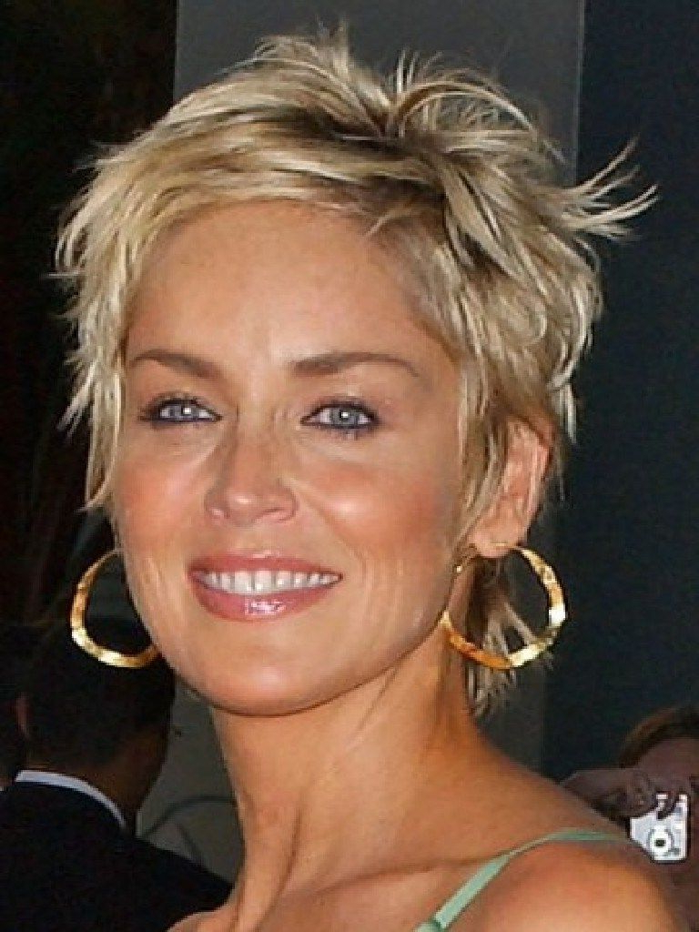 50 Hairstyles For Short Hair Women's | Sharon Stone Hairstyles Pertaining To Sharon Stone Short Haircuts (View 3 of 25)