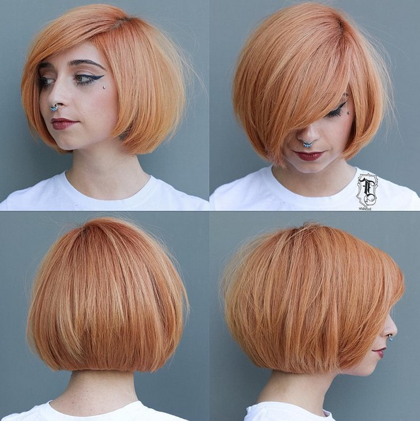 50 Hottest Balayage Hairstyles For Short Hair – Balayage Hair Color Inside Neat Short Rounded Bob Hairstyles For Straight Hair (View 7 of 25)