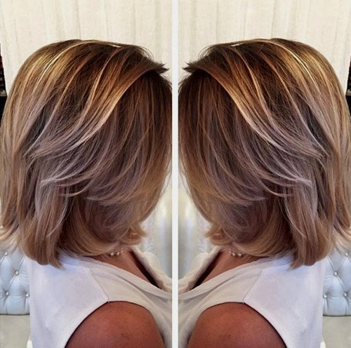 50 Hottest Balayage Hairstyles For Short Hair – Balayage Hair Color Intended For High Contrast Blonde Balayage Bob Hairstyles (View 18 of 25)