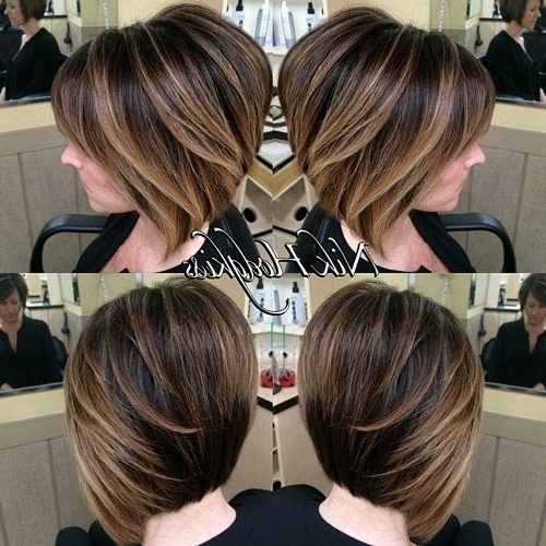 50 Hottest Balayage Hairstyles For Short Hair – Balayage Hair Color Intended For Short Stacked Bob Hairstyles With Subtle Balayage (View 4 of 25)