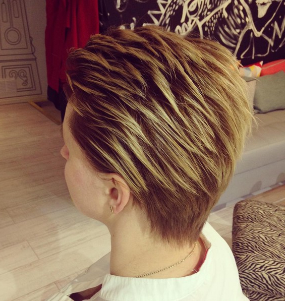 50 Hottest Balayage Hairstyles For Short Hair – Balayage Hair Color Throughout Stacked Blonde Balayage Pixie Hairstyles For Brunettes (View 24 of 25)
