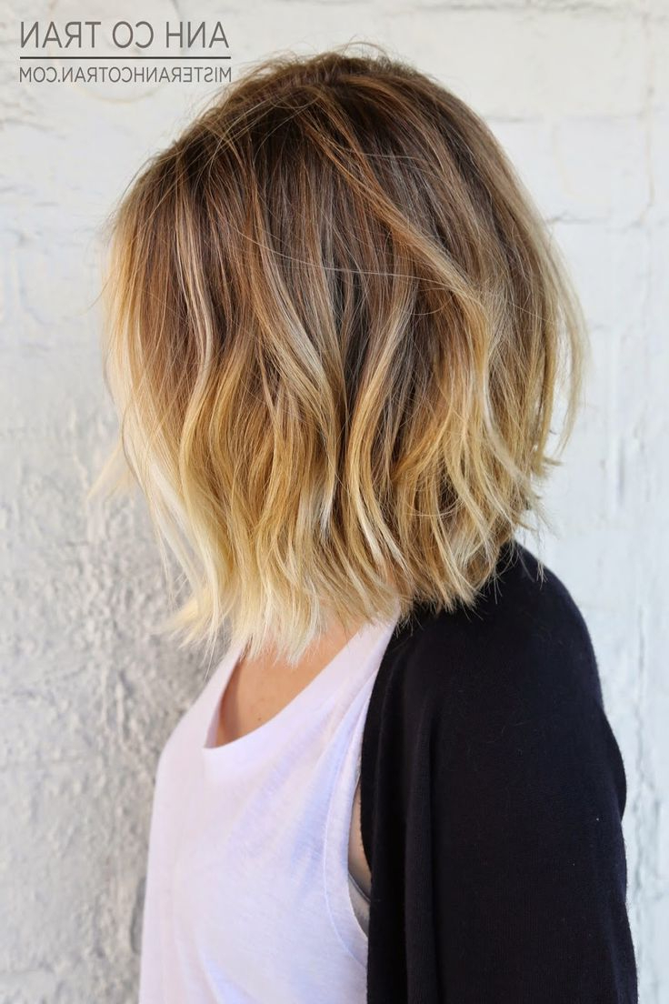 50 Hottest Bob Haircuts & Hairstyles For 2018 – Bob Hair Pertaining To Soft Brown And Caramel Wavy Bob Hairstyles (View 7 of 25)