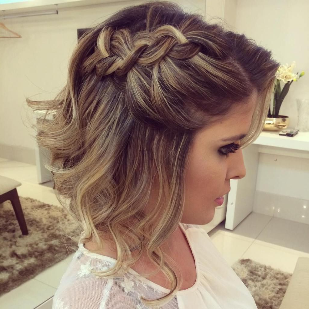50 Hottest Prom Hairstyles For Short Hair In 2018 | Hairstyles Intended For Short Hairstyles For Prom Updos (View 2 of 25)