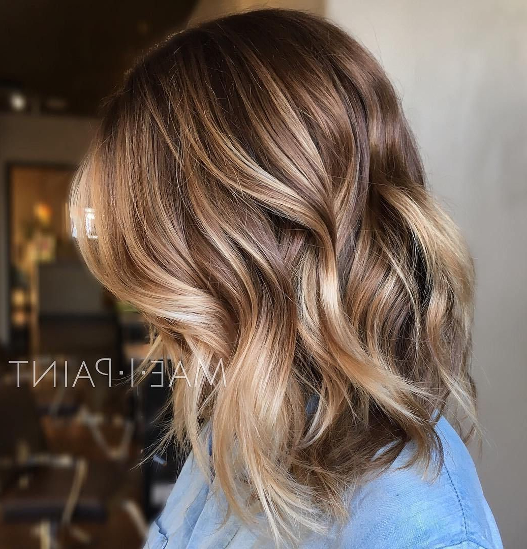 50 Ideas For Light Brown Hair With Highlights And Lowlights In 2018 In Curly Dark Brown Bob Hairstyles With Partial Balayage (View 7 of 25)