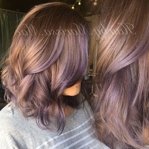 50 Ideas For Light Brown Hair With Highlights And Lowlights In 2018 Throughout Choppy Brown And Lavender Bob Hairstyles (View 14 of 25)