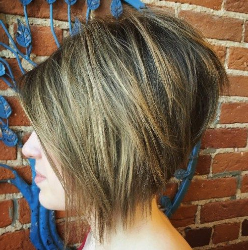 50 Layered Bob Styles: Modern Haircuts With Layers For Any Occasion With Stunning Poker Straight Bob Hairstyles (View 8 of 25)