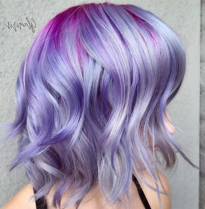 50 Lovely Purple & Lavender Hair Colors – Purple Hair Dyeing Tips With Regard To Choppy Brown And Lavender Bob Hairstyles (View 9 of 25)