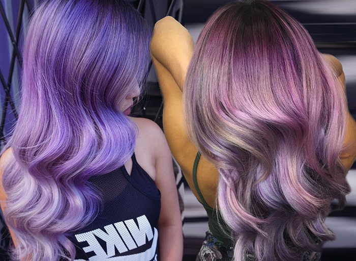50 Lovely Purple & Lavender Hair Colors – Purple Hair Dyeing Tips Within Lavender Haircuts With Side Part (View 25 of 25)