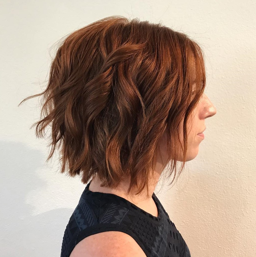 50 Messy Bob Hairstyles For Your Trendy Casual Looks – Page 14 Of 40 With Loosely Waved Messy Brunette Bob Hairstyles (View 25 of 25)