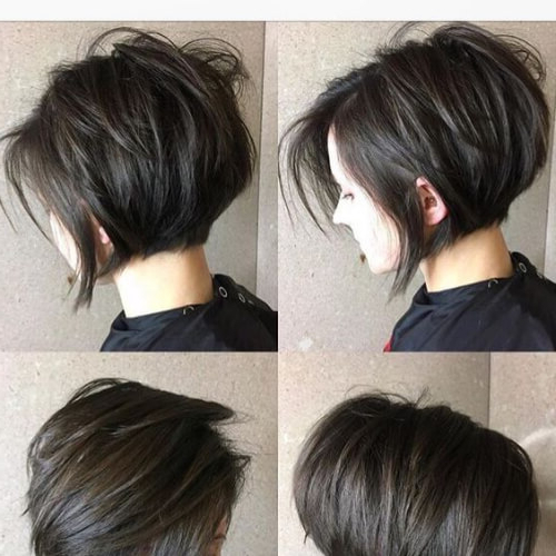 50 Modern Stacked Bob Haircut Ideas | All Women Hairstyles In Stacked Black Bobhairstyles  With Cherry Balayage (View 24 of 25)