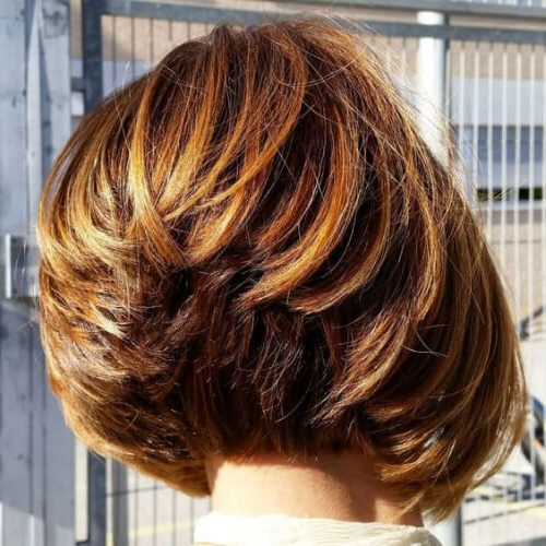 50 Modern Stacked Bob Haircut Ideas | All Women Hairstyles With Stacked Copper Balayage Bob Hairstyles (View 10 of 25)
