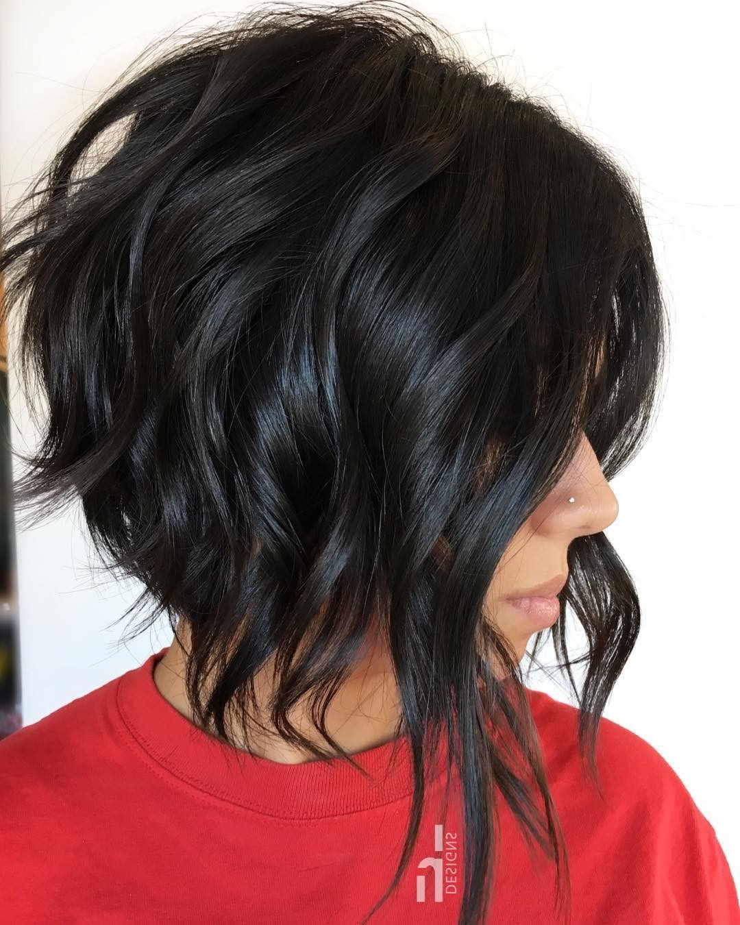 Featured Photo of Edgy Brunette Bob Hairstyles With Glossy Waves