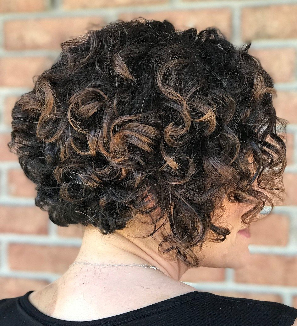 50 Most Delightful Short Wavy Hairstyles   Partial Balayage Throughout Curly Dark Brown Bob Hairstyles With Partial Balayage (View 3 of 25)