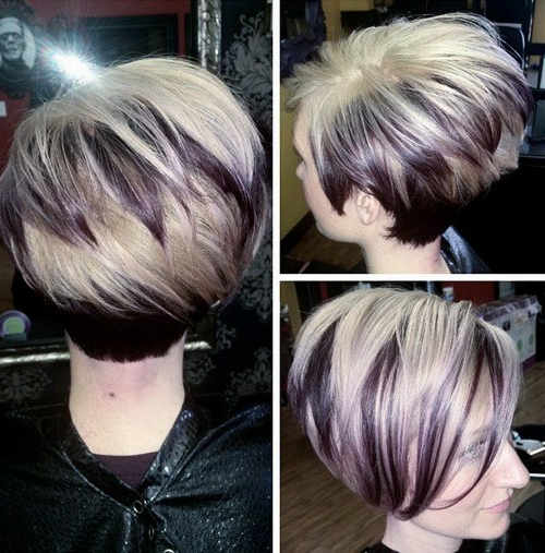 50 Overwhelming Ideas For Short Choppy Haircuts – Page 25 – Foliver Blog Throughout Two Tone Stacked Pixie Bob Haircuts (View 15 of 25)